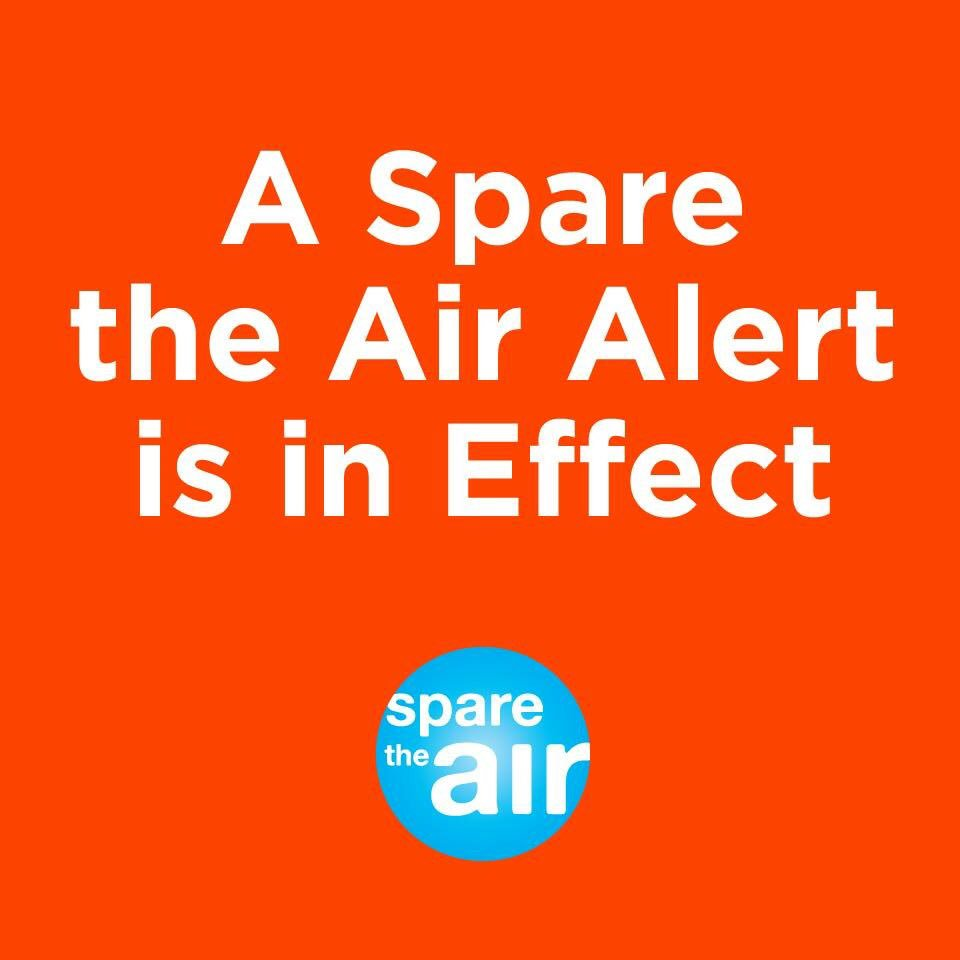 #SpareTheAirAlert is in Effect: Please avoid wood burning, lawn mowing and leaf blowing, driving, and barbecuing. https://t.co/GulTqtZD5Z