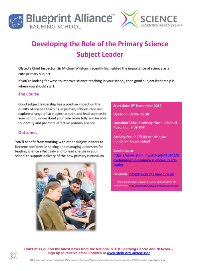 Blueprint alliance on twitter primary cpd offer developing the blueprint alliance on twitter primary cpd offer developing the role of the primary science subject leader to book your place clink on this link malvernweather Image collections