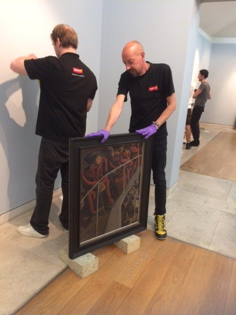 Behind the scenes of our new #Bomberg exhibition over at @PallantGallery, opening 21st October. https://t.co/xNV5LconaG
