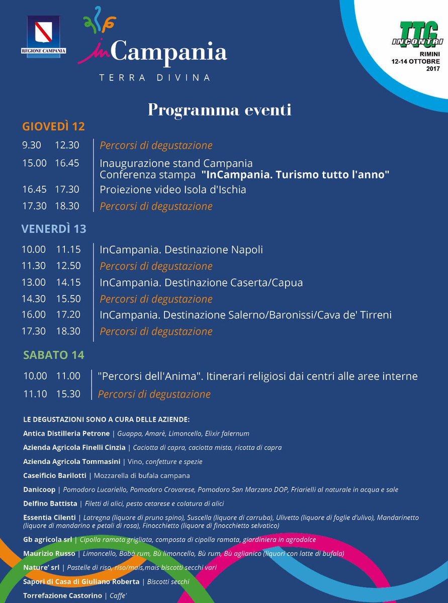 Calendario Regione Campania.Regione Campania On Twitter Domani 54 Edizione Della Fiera