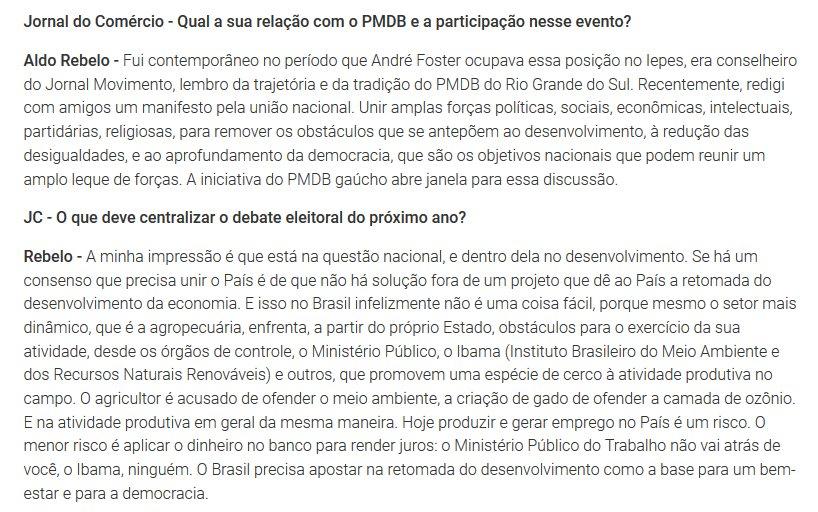 Aldo Rebelo quer ser o candidato do agronegócio e da FIESP contra o Ibama e a Justiça do Trabalho https://t.co/NAgLgwJVKw
