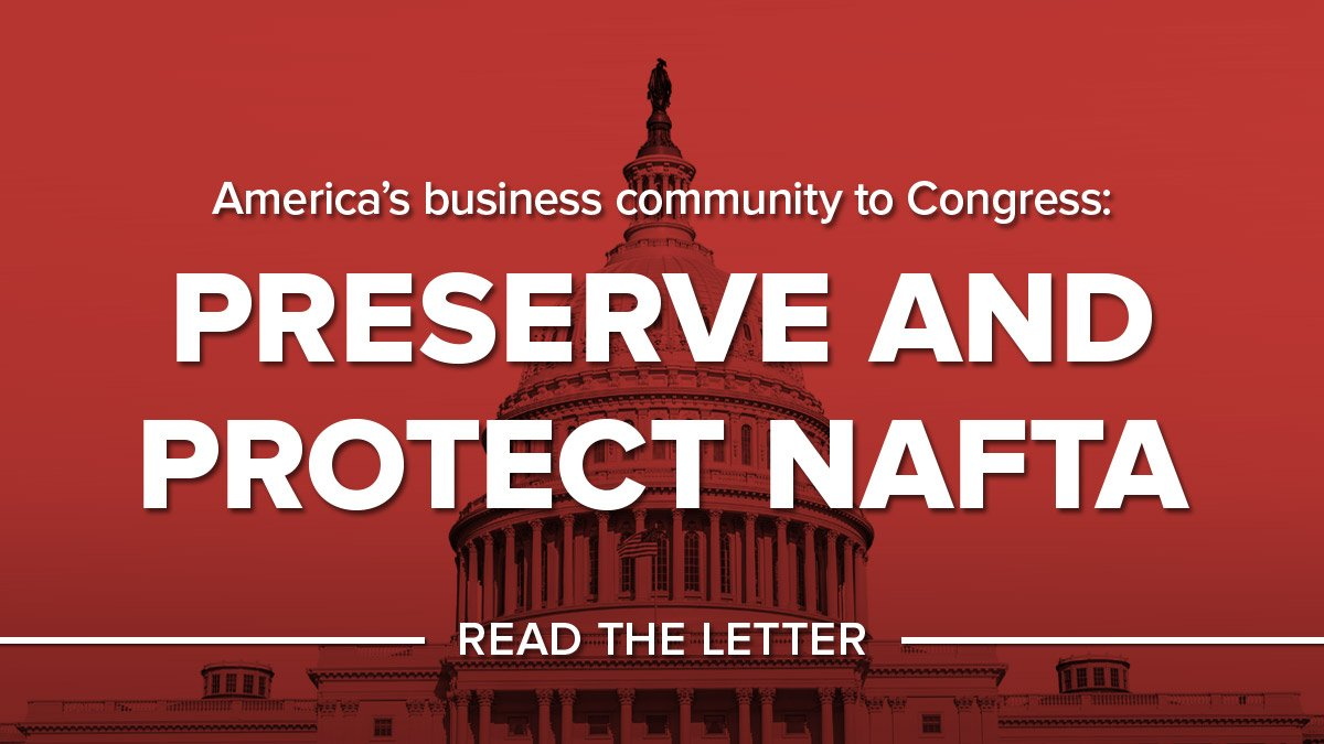 NAFTA supports over 14 million American jobs. We stand to preserve and protect NAFTA. Read our letter: https://t.co/neBh6vAqEP #NAFTAworks