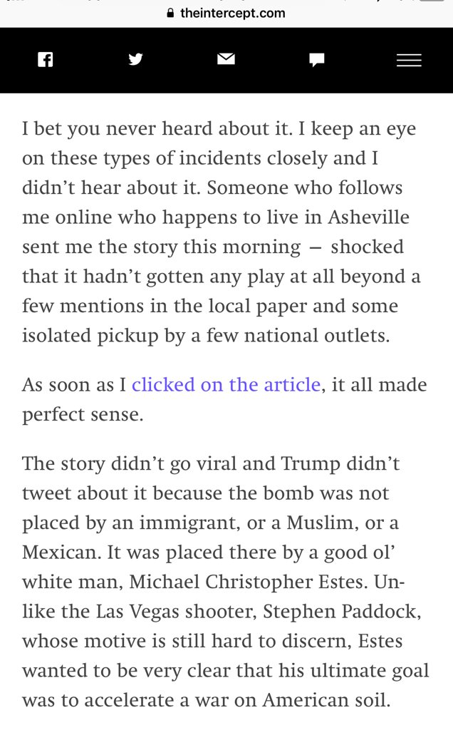 """""""The airport bomber from last week you never heard about"""".  on nail bomb attempt in North Carolina  https://t.co/QhH5Hh3oXJ"""