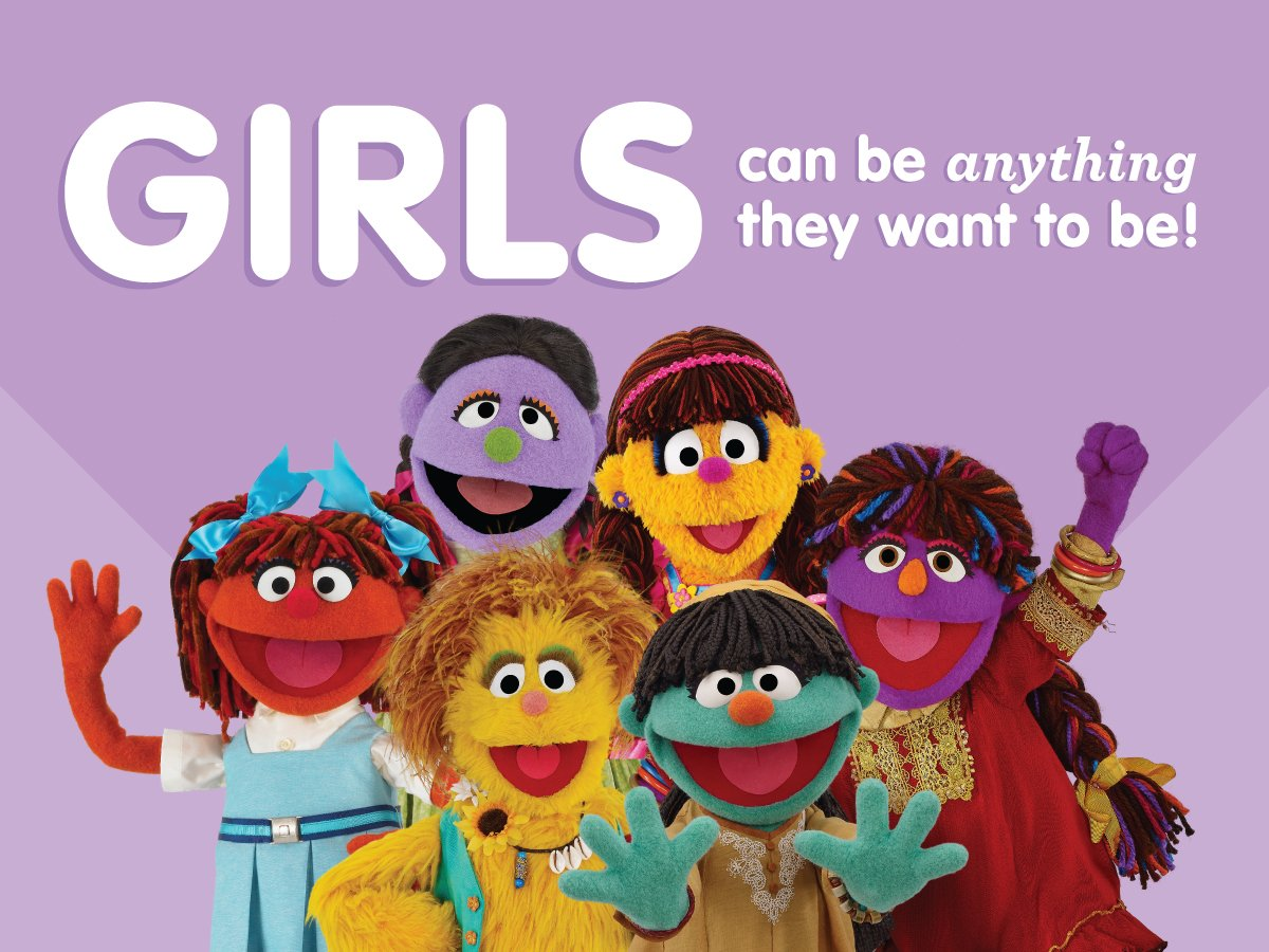 Sesame street on twitter today we celebrate our girl characters who are role models for young girls around the world dayofthegirl