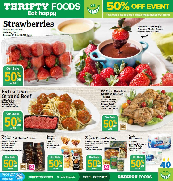 Thrifty Foods On Twitter 50 Off Event This Week On Select Items