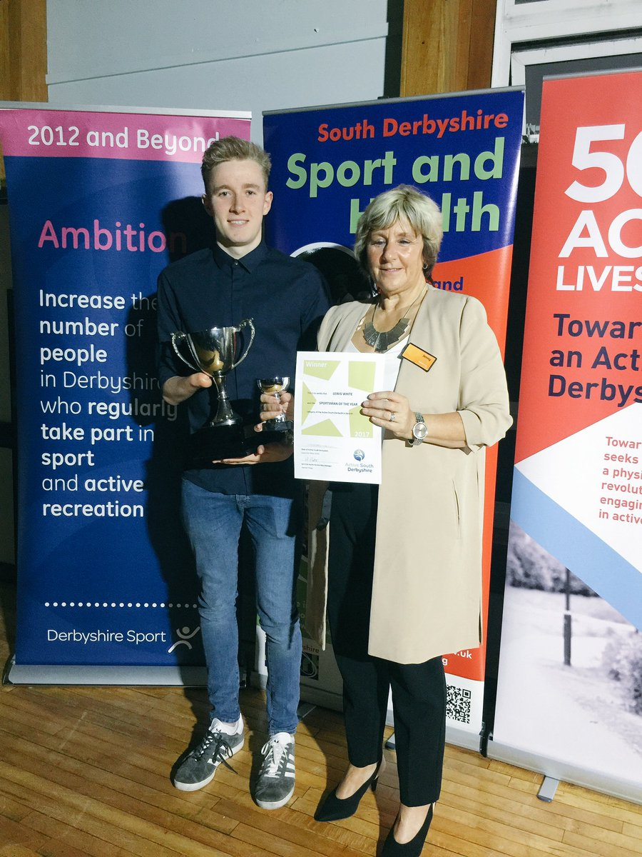 #Sportsman of the year is Lewis White!  #ActiveSouthDerbyshireSportsAwards  He&#39;s respresenting Team GB @ World Para-swimming championships<br>http://pic.twitter.com/ZgRl9oa8gq