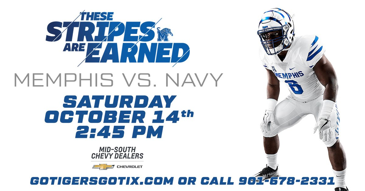 Memphis Tigers On Twitter Tigers Vs Navy Saturday