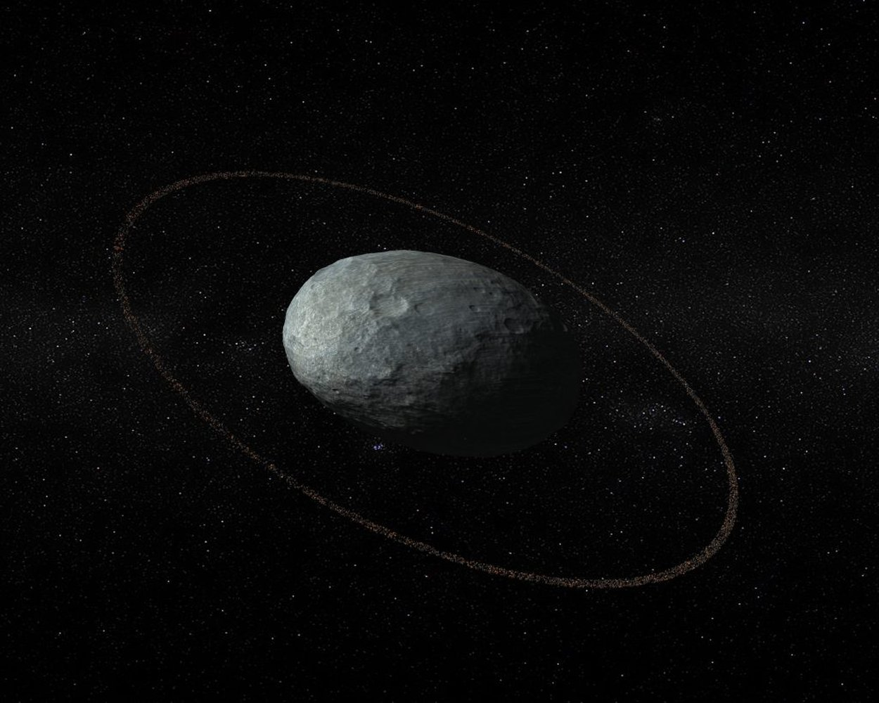 Surprise! Bizarre Dwarf Planet Haumea Has Rings https://t.co/VOGbry9Q0J https://t.co/O8eqHOChhQ