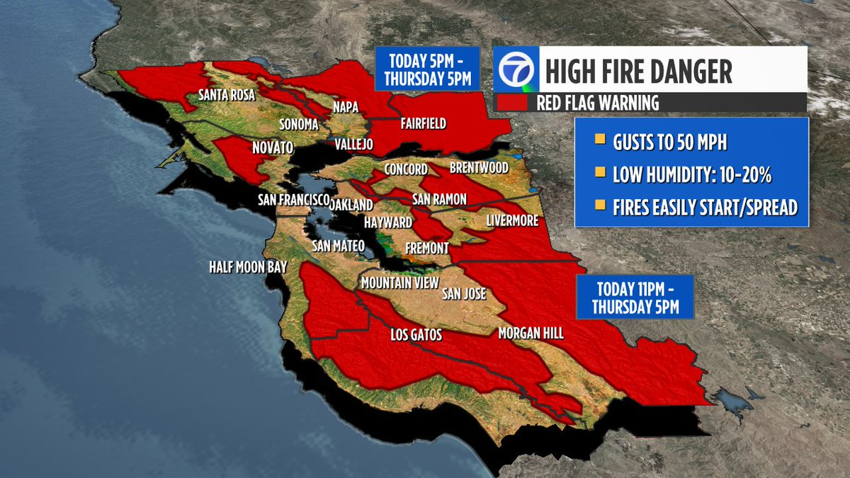 RED FLAG WARNING now includes Santa Cruz Mountains. High fire danger spreading. #update https://t.co/5qSewiPBgr