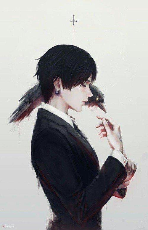 Violett On Twitter Crow Boy Anime Illustration Cute Manga Kawaii Dark