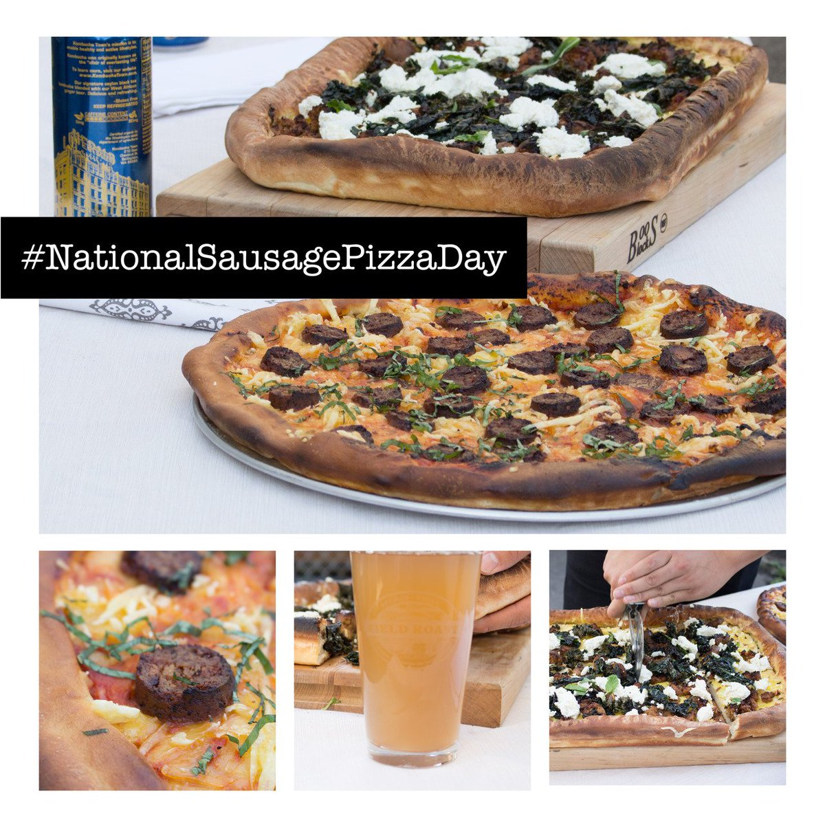 We made two pizzas for #NationalSausagePizzaDay with crumbled Field Roast Italian Sausage and sliced Field Roast Mexican Chipotle Sausage. <br>http://pic.twitter.com/aylX5V9GkJ