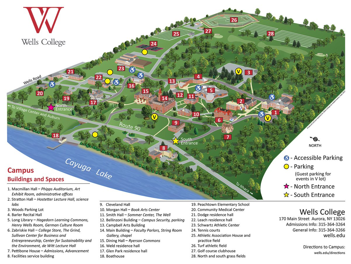 Wells College On Twitter We Recently Gave Our Campus Map A New