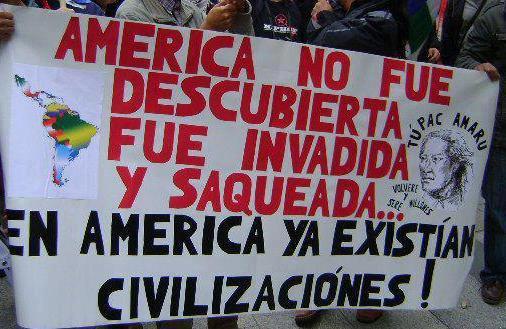 America no fue decubierta, fue invadida...