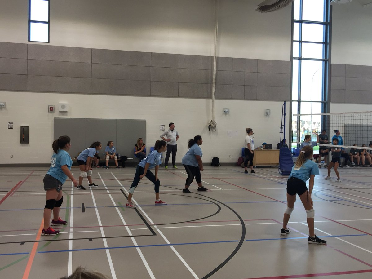 Now the Grade 7 &amp; 8 girls are in action at @SageCreekLRSD. Go Varennes Go! #teamspirit @PhysEd_Hardman @SageCreekPE<br>http://pic.twitter.com/pugFoJwXe6