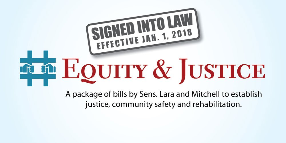 Read about all the new #EquityAndJustice laws! #SB180 #SB190 #SB355 #SB393 #SB394 #SB395 @HollyJMitchell http://sd33.senate.ca.gov/news/2017-10-11-gov-brown-signs-five-equityandjustice-bills-promote-prevention-rehabilitation-family …