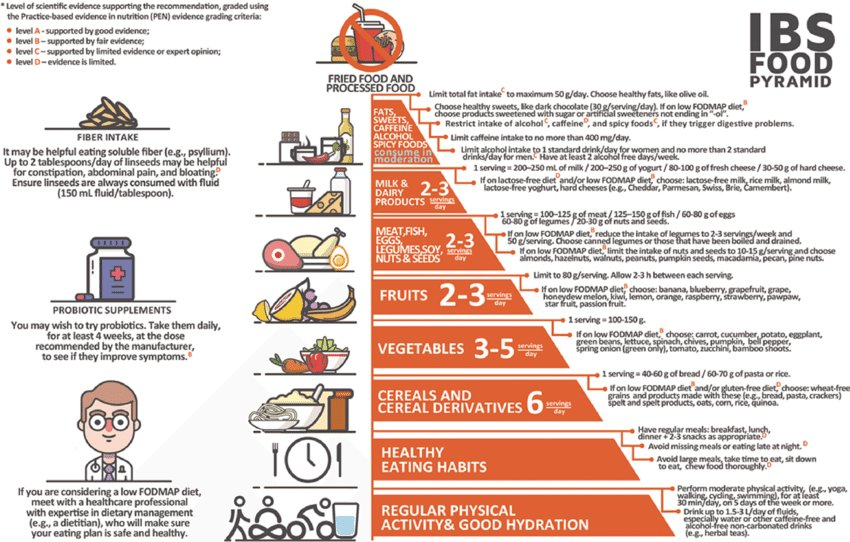 Great summary of evidence around diet &amp; lifestyle strategies 4 #IBS + a new food pyramid concept for IBS sufferers!  http:// bit.ly/2w9n2Kr  &nbsp;  <br>http://pic.twitter.com/V2qTqAtKdb