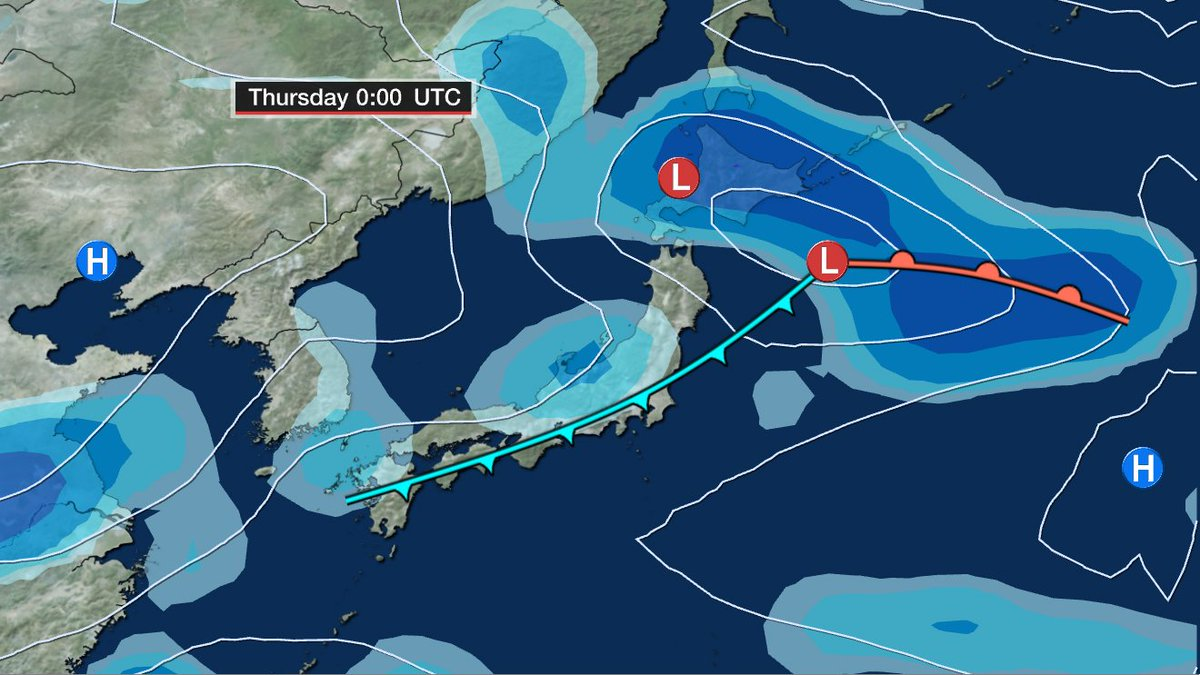 Cold air and wet weather is moving into Tokyo and western Japan. Expect rain for the next 2-3 days #NHK #NHKnewsline #Tokyoweather #Japan<br>http://pic.twitter.com/1gvcJcQXxM
