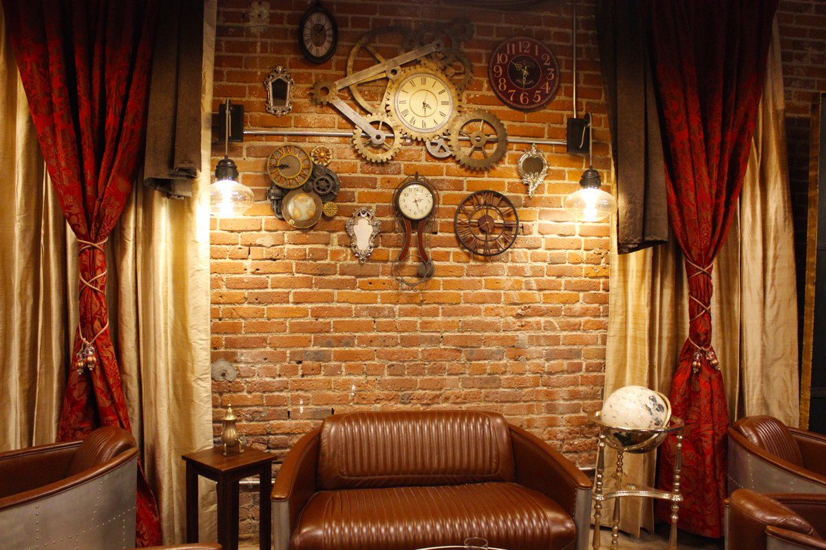 #Steampunk Awesome of the Day: Interior #Design at @Solutionsdenv Escape Room & #Restaurant in #Denver #SamaPlaces