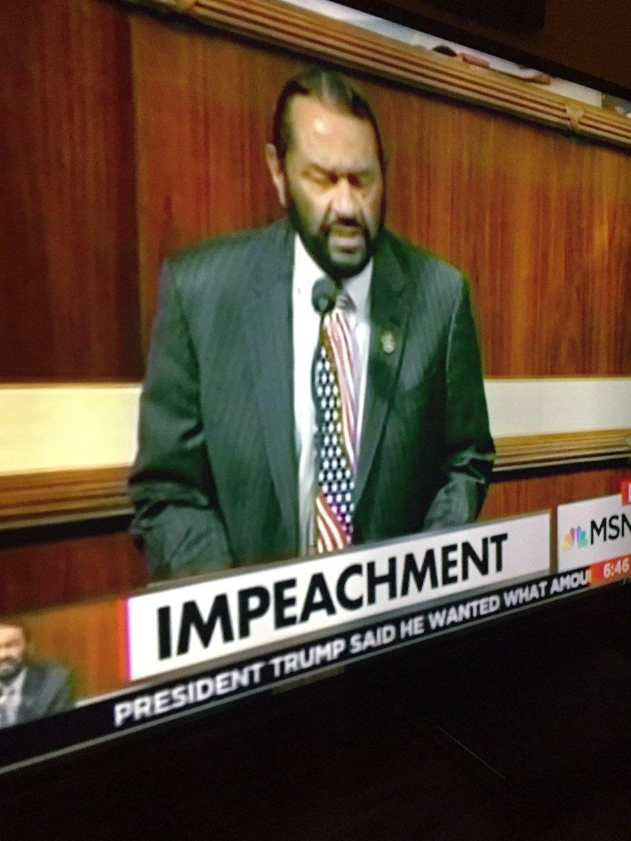 Democrat Rep. Al Green (D-Texas) pulls Trump impeachment measure