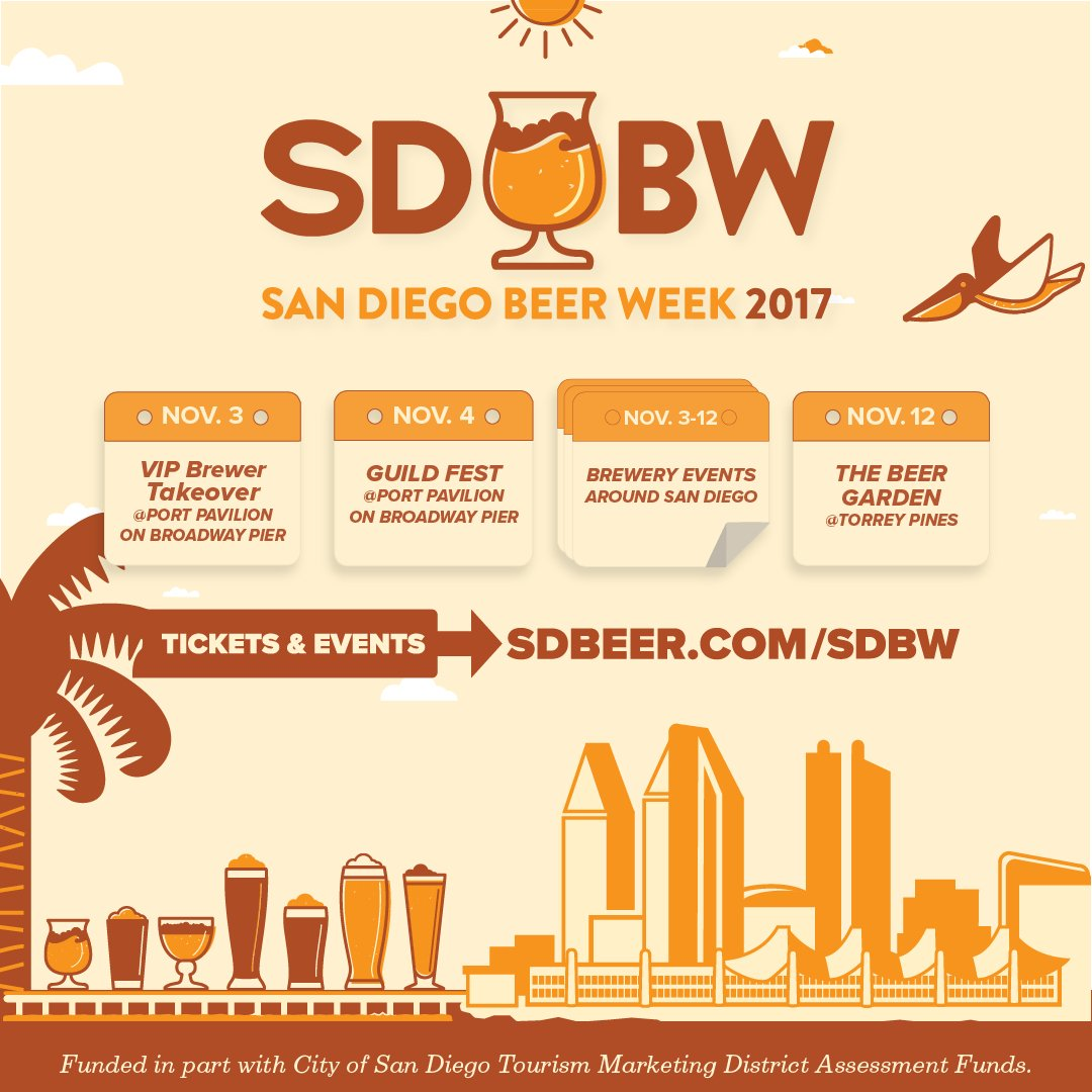 San Diego Beer Week is just around the corner! Which events will we be seeing you at? https://t.co/u2HLwF5mv7