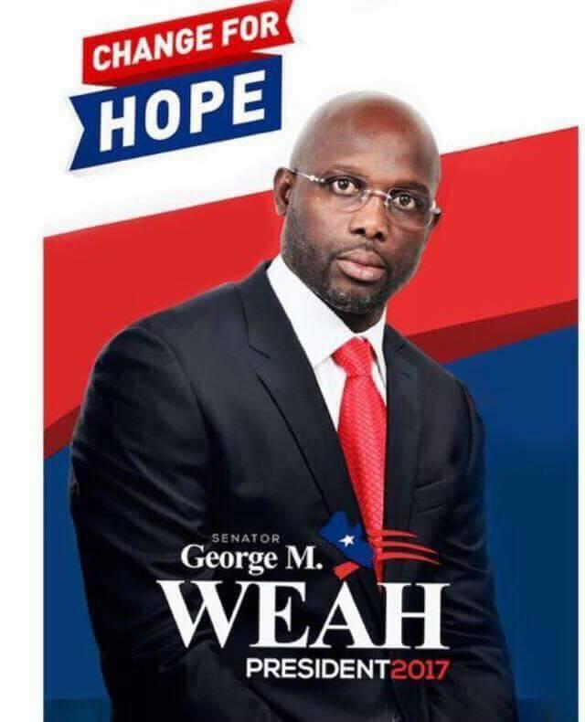 #Weah   è il nuovo #Presidente  della #Liberia  #Grandeeeee #George  pic.twitter.com/6blPQ82cDt