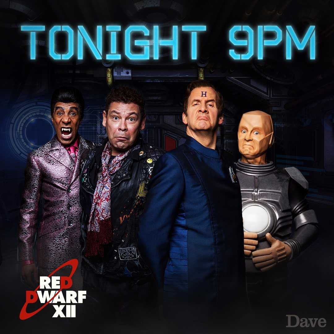 They've arrived, smegheads. #RedDwarfXII launches tonight at 9pm! http...