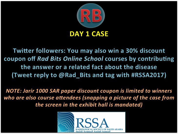 RSSA Day1 Case: 33y female with dyspnea #RSSA2017 #radres #radiology #radiologia #med13 #med15 #med15 #med17 #foamed #FOAMrad #MedEd #med101<br>http://pic.twitter.com/FSZYGNJ0uw