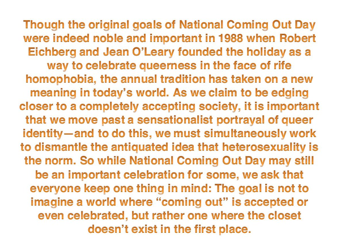 A few words as we close out #NationalComingOutDay <br>http://pic.twitter.com/PqaaInufU6