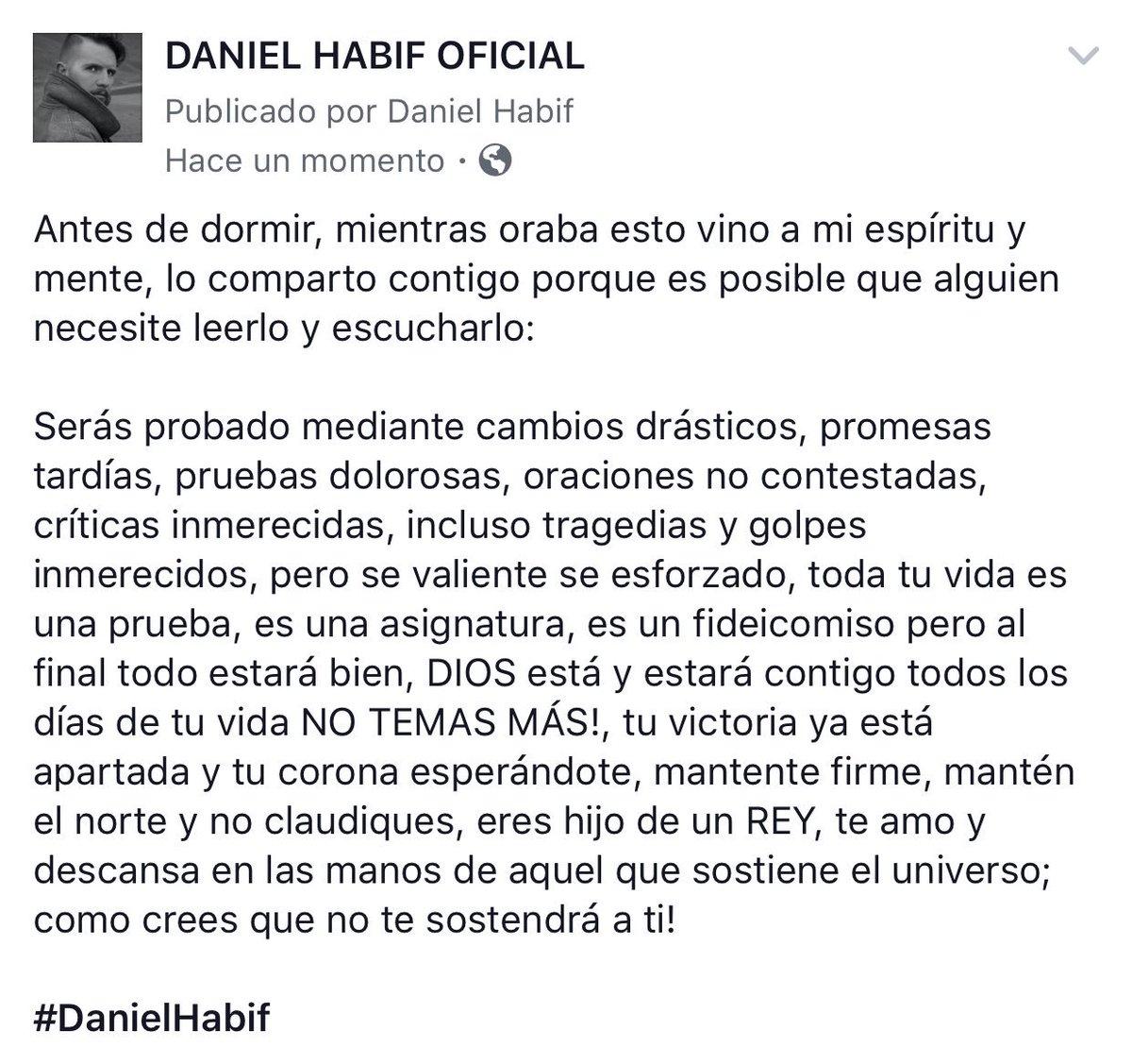 Daniel Habif On Twitter Serás Probado Pero Vencerás Dios