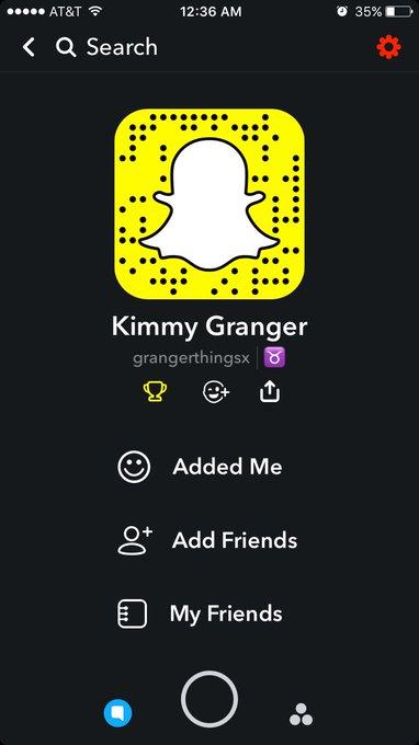 K I finally made a Snapchat 🤗 add me! @grangerthingsx https://t.co/nIOnkS60QU