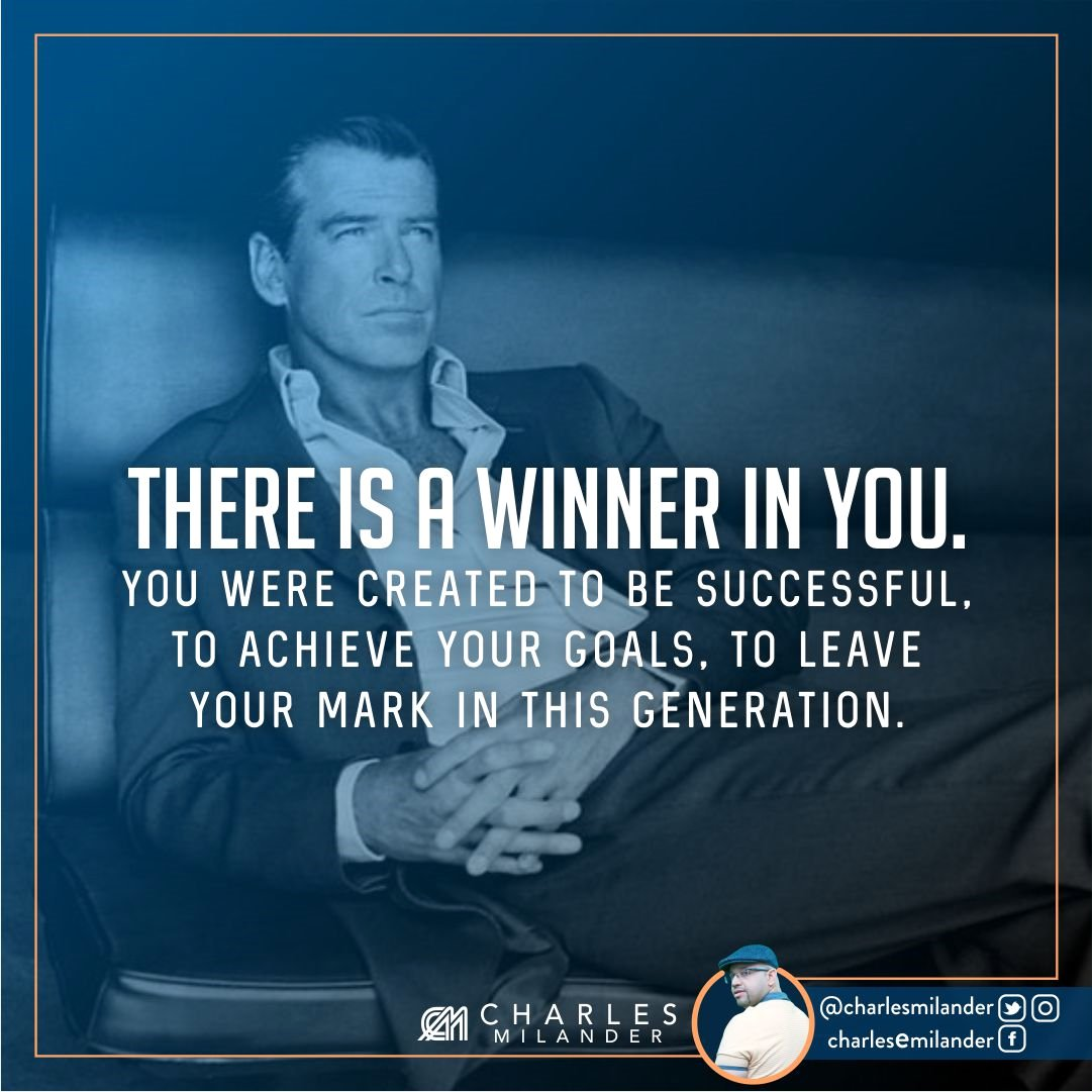There is a winner in you. You were created to be successful, to achieve your goals, to leave your mark in this generation.  #working #foun<br>http://pic.twitter.com/rnaXlgI5MO