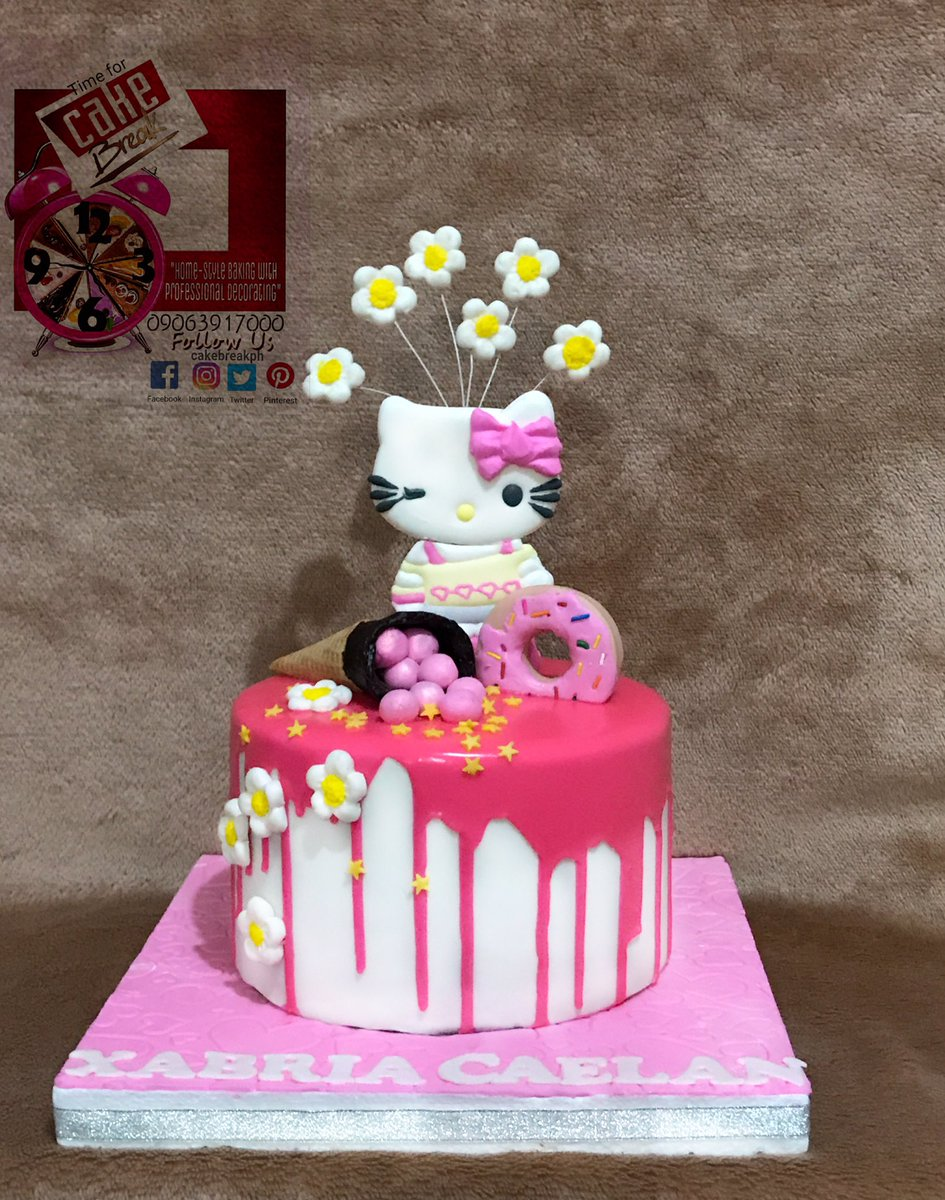 Cake Break On Twitter Hellokitty Drip Cake For Xabrias 1st