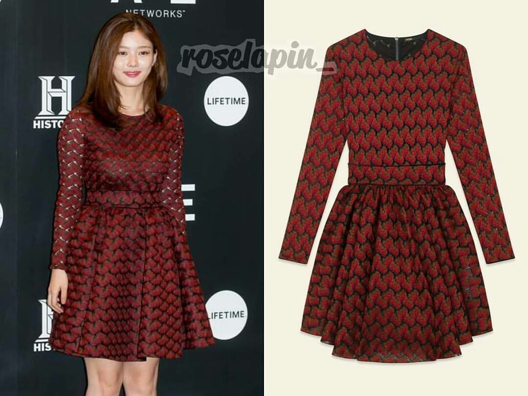 171012 #KimYooJung  outfit  from   Maje lace dress   Kim Yoojung 171012:  #Maje lace dress $495  cr:roselapin_ <br>http://pic.twitter.com/jQ0cfNUtyN