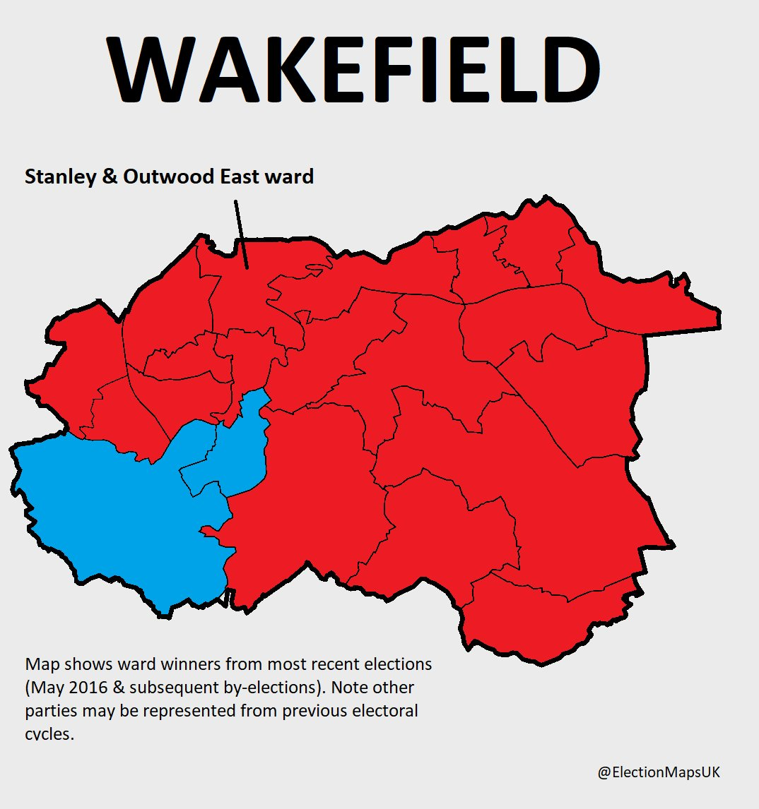 By-election to day in the safe Labour ward of #Stanley &amp; #Outwood East on #Wakefield.  Con, LD, UKIP &amp; Yorkshire Party all standing too.<br>http://pic.twitter.com/lrc8yvzPdG