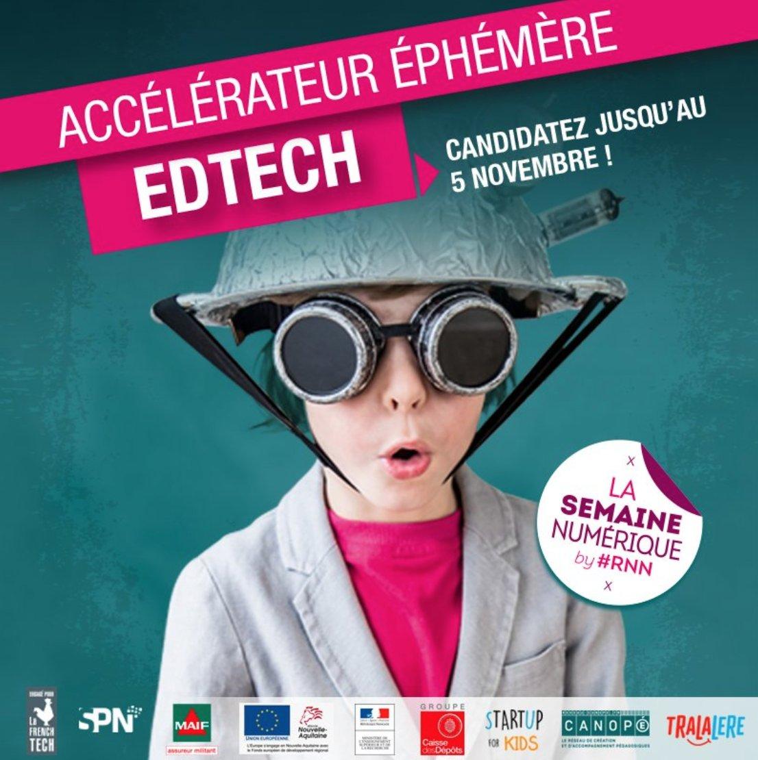5 jours pour booster votre projet #Edtech avec le reseauSPN  Candidatures &gt;&gt;&gt;  http:// bit.ly/accedtchspn  &nbsp;   #RNN2017 <br>http://pic.twitter.com/2U2UGe9H6w  …