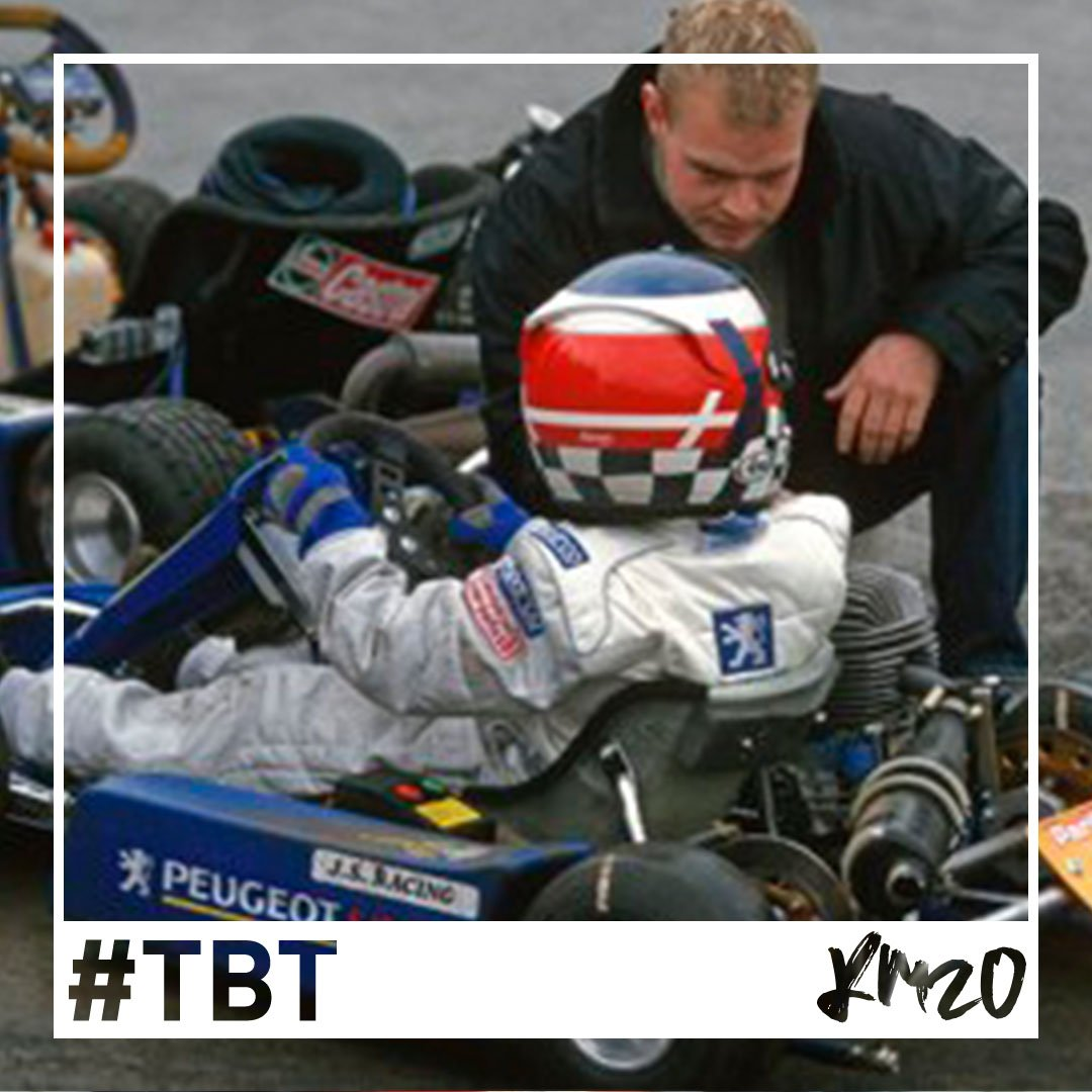 #TBT to the karting days  Here Kev&#39;s pictured chatting to his Dad in the @Peugeot Super Kart Junior series which he went on to win  #KM20 <br>http://pic.twitter.com/6gmouTiMEz