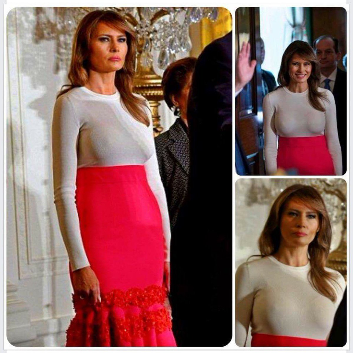 CLASS-- get some #Melania.   The world can see ALL of ur purchased boobery...AND WHAT IF #MICHELLE? <br>http://pic.twitter.com/w5599GaCbE