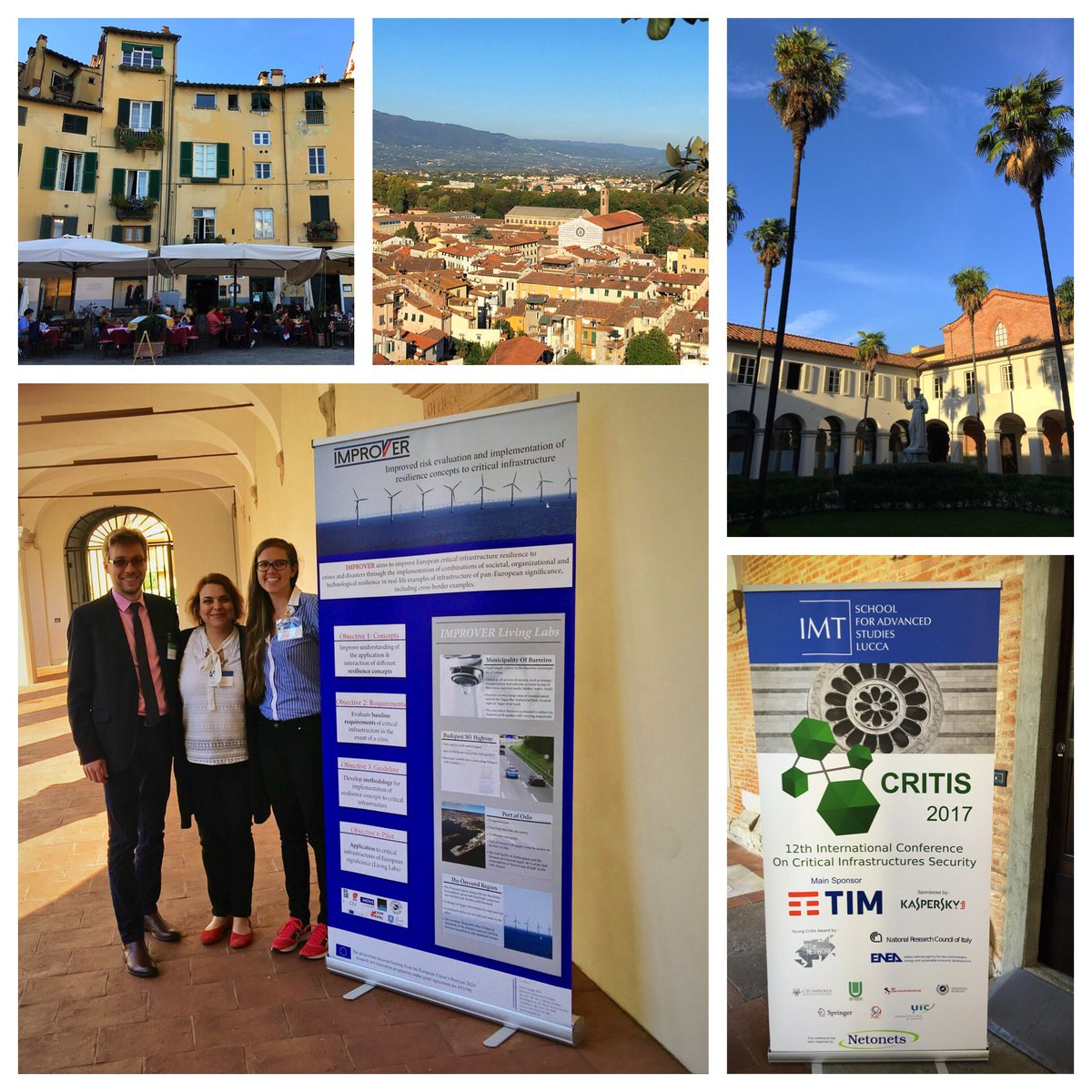 Goodbye, Lucca! Thanks to #CRITIS2017 host @IMTLucca and main sponsor @TIM_Official for fruitful event! #resilience #criticalinfrastructure<br>http://pic.twitter.com/udswgrizFZ