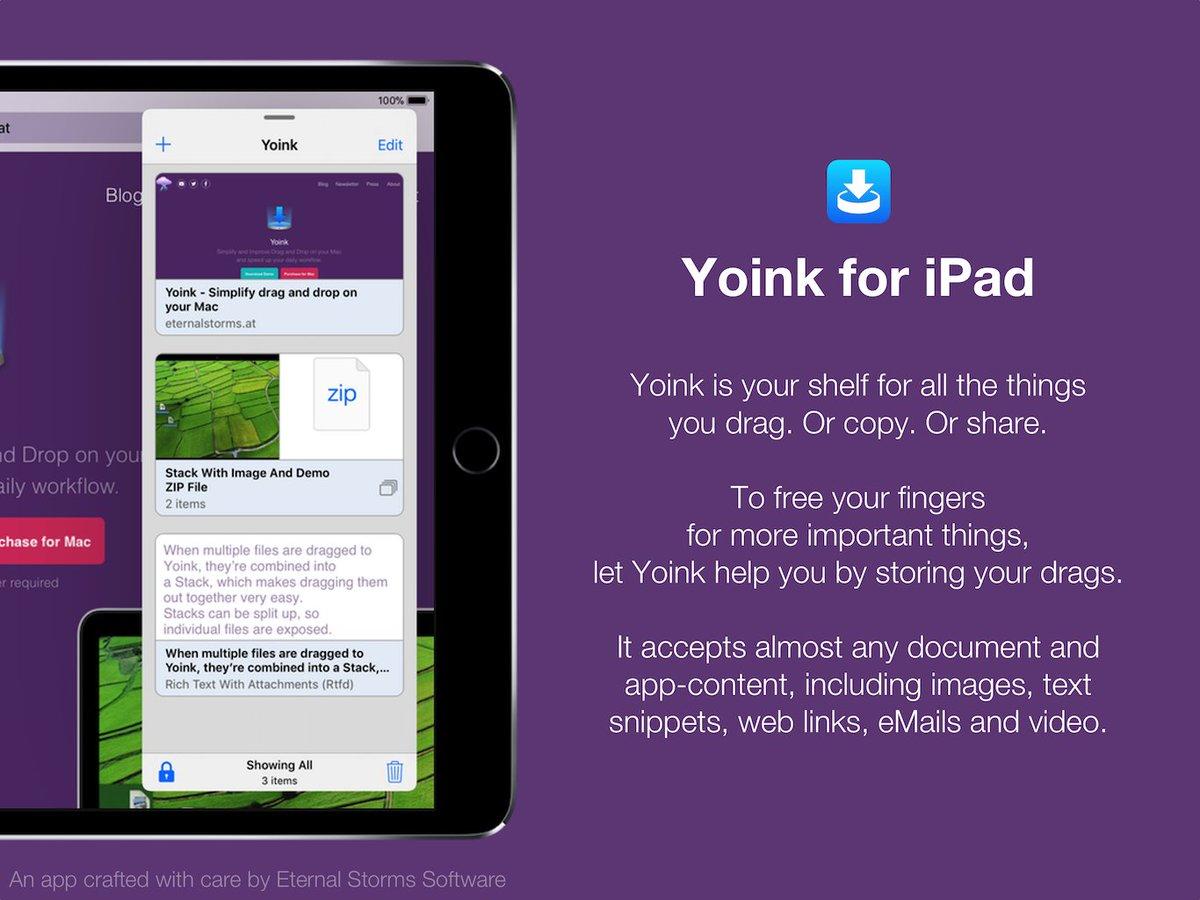 Yoink for Mac, iPad and iPhone (@YoinkApp) | Twitter