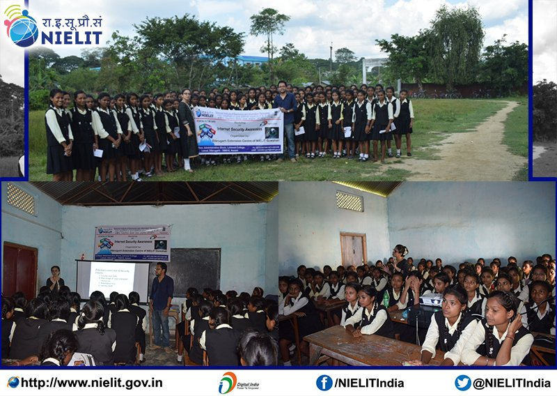 76 girls participated in the #InternetSecurity awareness workshop conducted by Dibrugarh EC of #NIELIT Guwahati at Lahoal Girls H.E. School.<br>http://pic.twitter.com/FW8PP01M6U