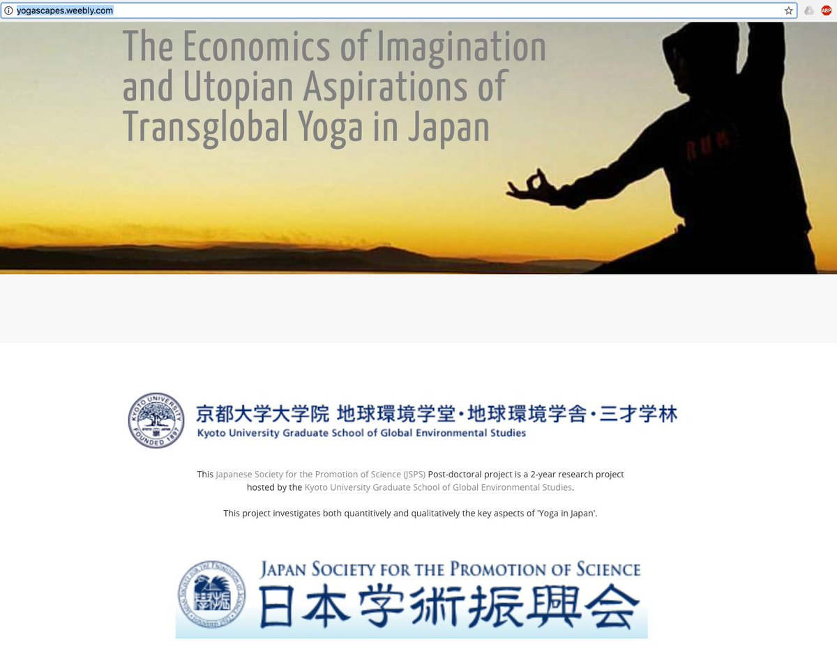 my #JSPS-funded #Yogascapes project  http:// yogascapes.weebly.com / &nbsp;   #yogascapes #yogainjapan #YiJ  @KyotoU_News  @ANU_CHL @ANUcass @ANUasiapacific <br>http://pic.twitter.com/EoyWuLo4ef
