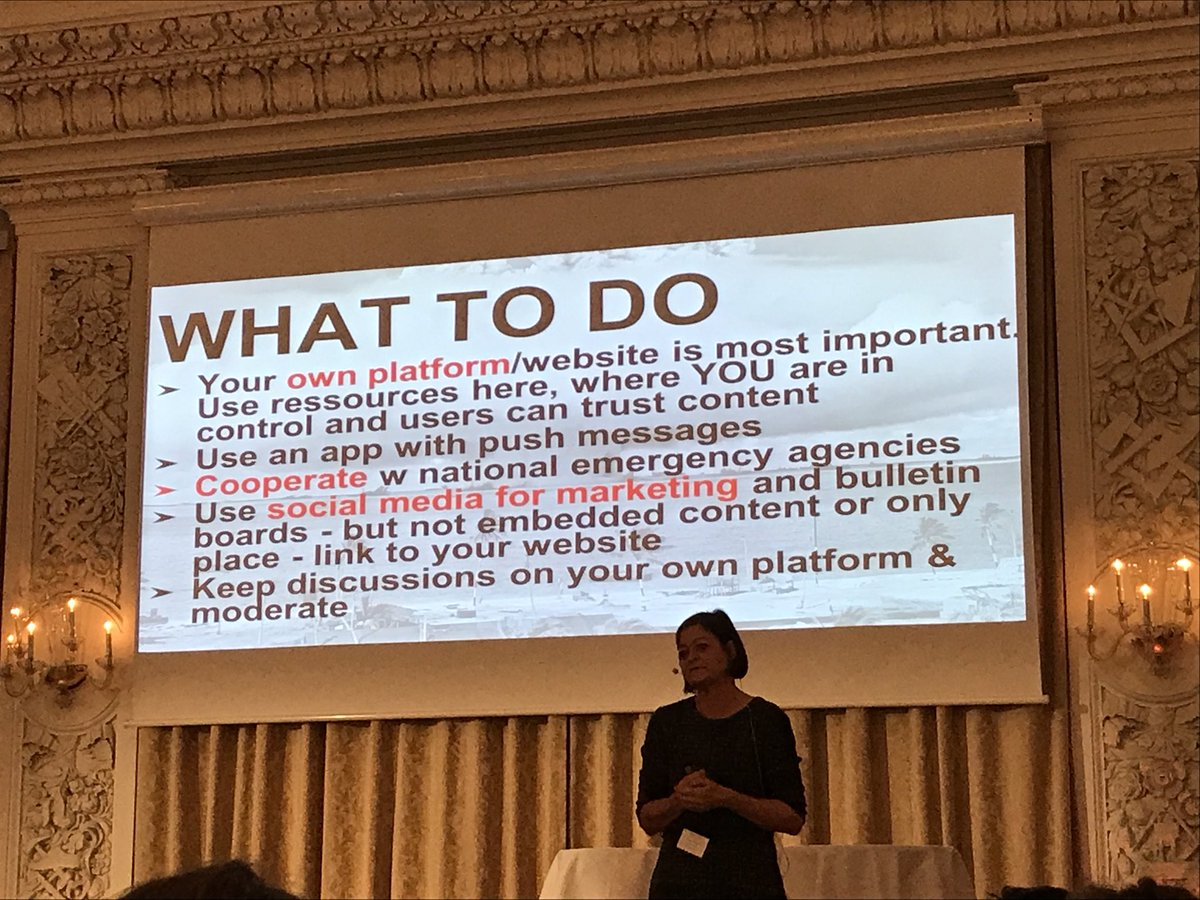 Your own website is most important, keep discussions on your own platform instead of social media, says Pernille Tranberg. #criscom17 <br>http://pic.twitter.com/pg0sJsRm9K
