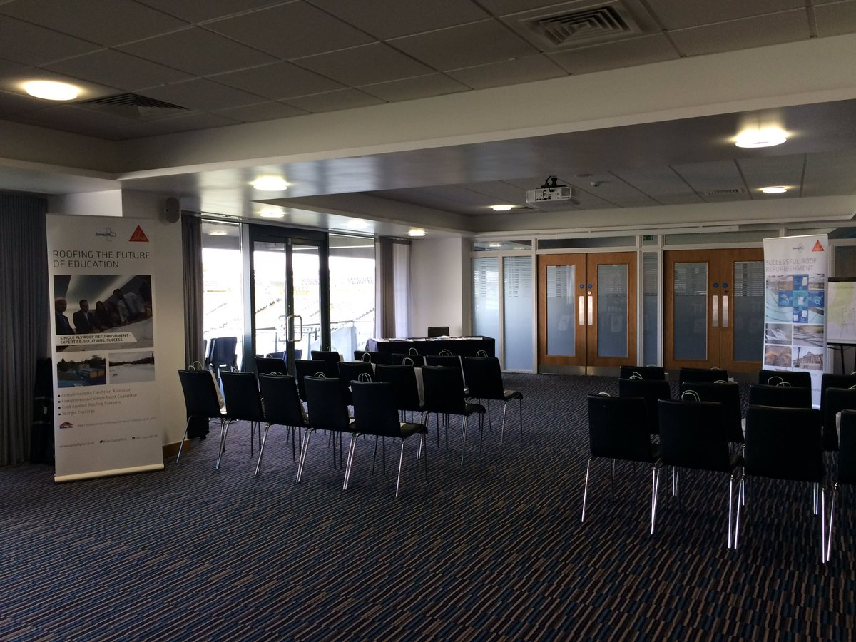 We are at @edgbaston for today&#39;s #SarnafilPlus deminar. We can&#39;t wait until our guests start arriving! #singleply #roofing<br>http://pic.twitter.com/243A1OeXq6