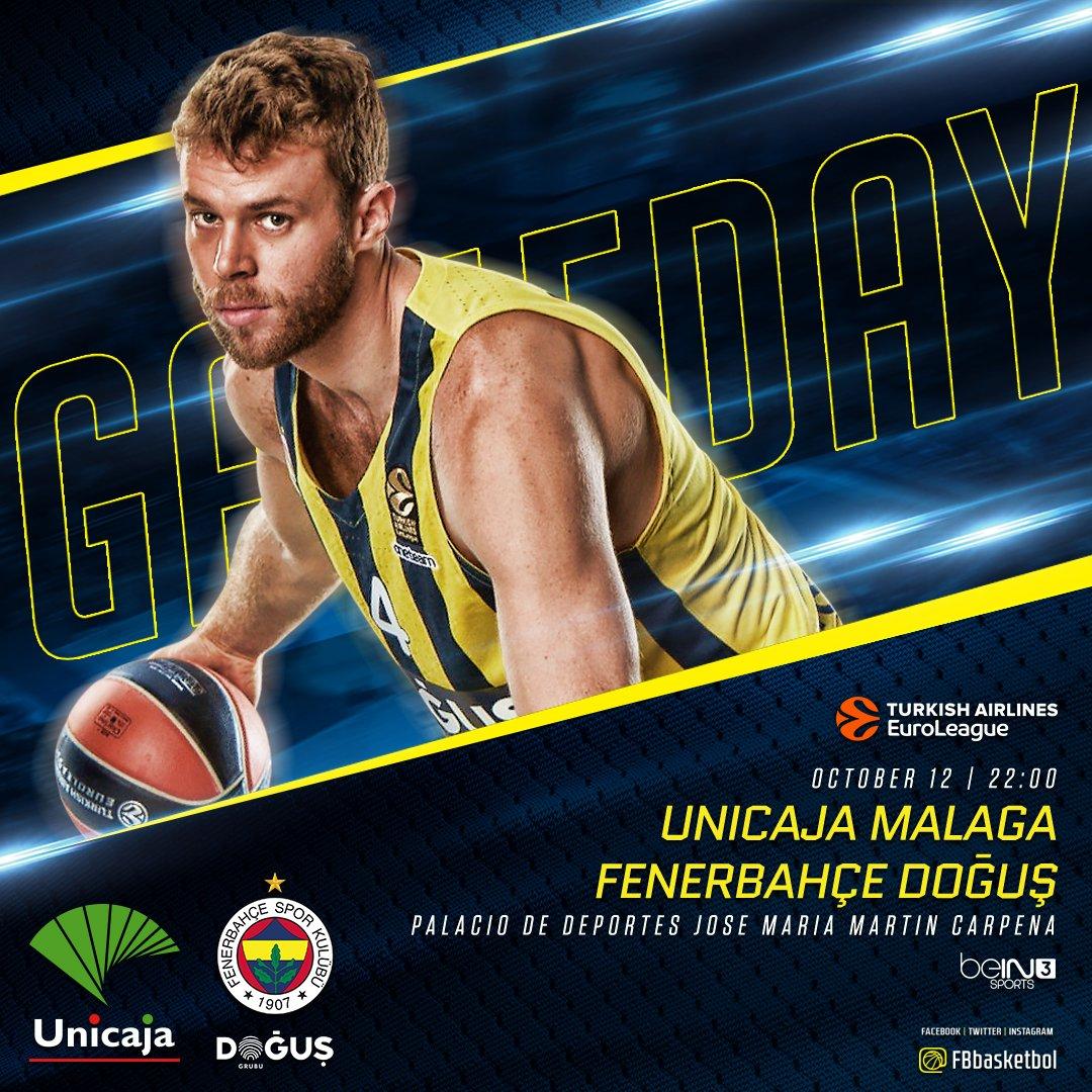 🔥 Maç günü! 🏆 @EuroLeague 1. Hafta 🏀 @unicajaCB  📍 Jose Maria Martin C...