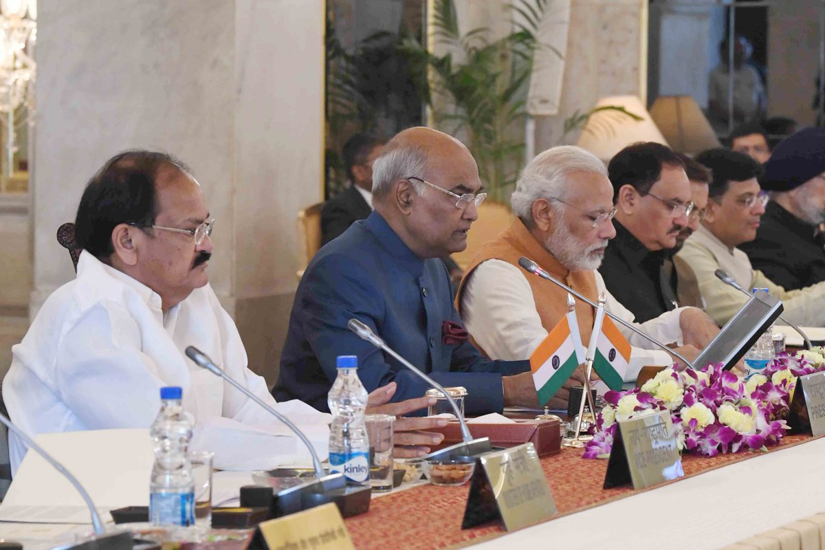 President #RamNathKovind says it is essential to link youth with process of nation building.