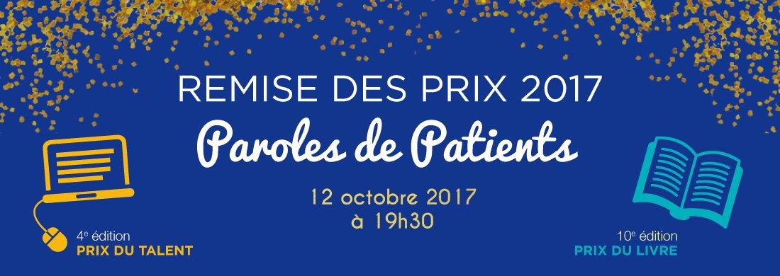 La remise de prix #ParolesDePatients, c'est ce soir ! Suivez-nous sur Twitter  pic.twitter.com/W0Ycpz67xJ