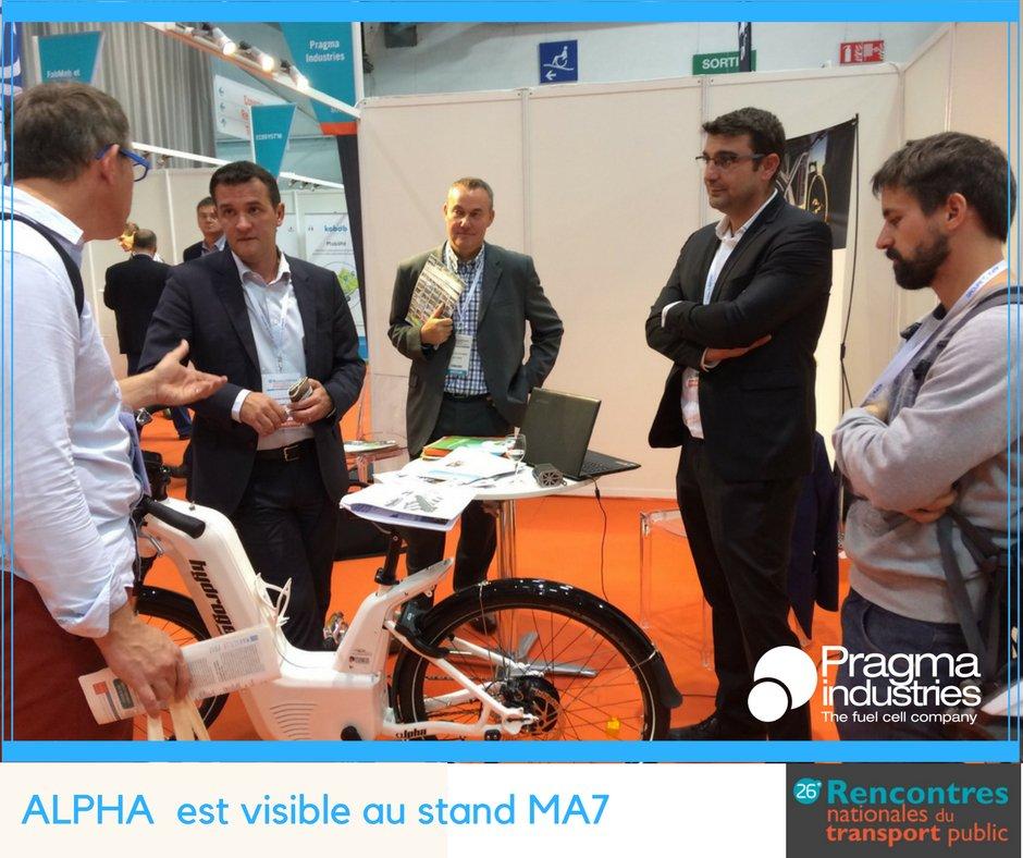 Alpha aux #RNTP17 à Marseille, où les décideurs en charge de la mobilité, débattent de solutions innovantes #H2now.
