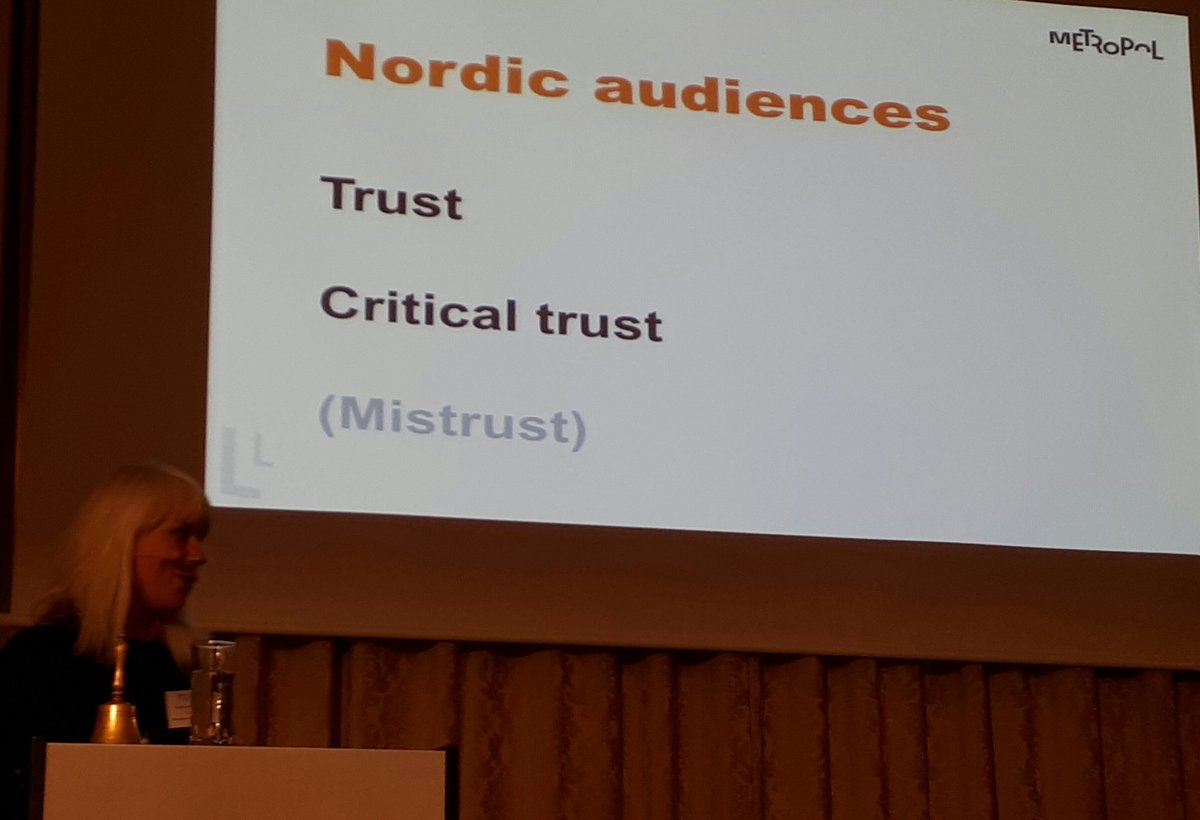 What a great basis for CrisCom we have: the Nordic audiences trust you, are well-educated and don&#39;t think you are corrupted. #criscom17 <br>http://pic.twitter.com/RkUXDpte0J