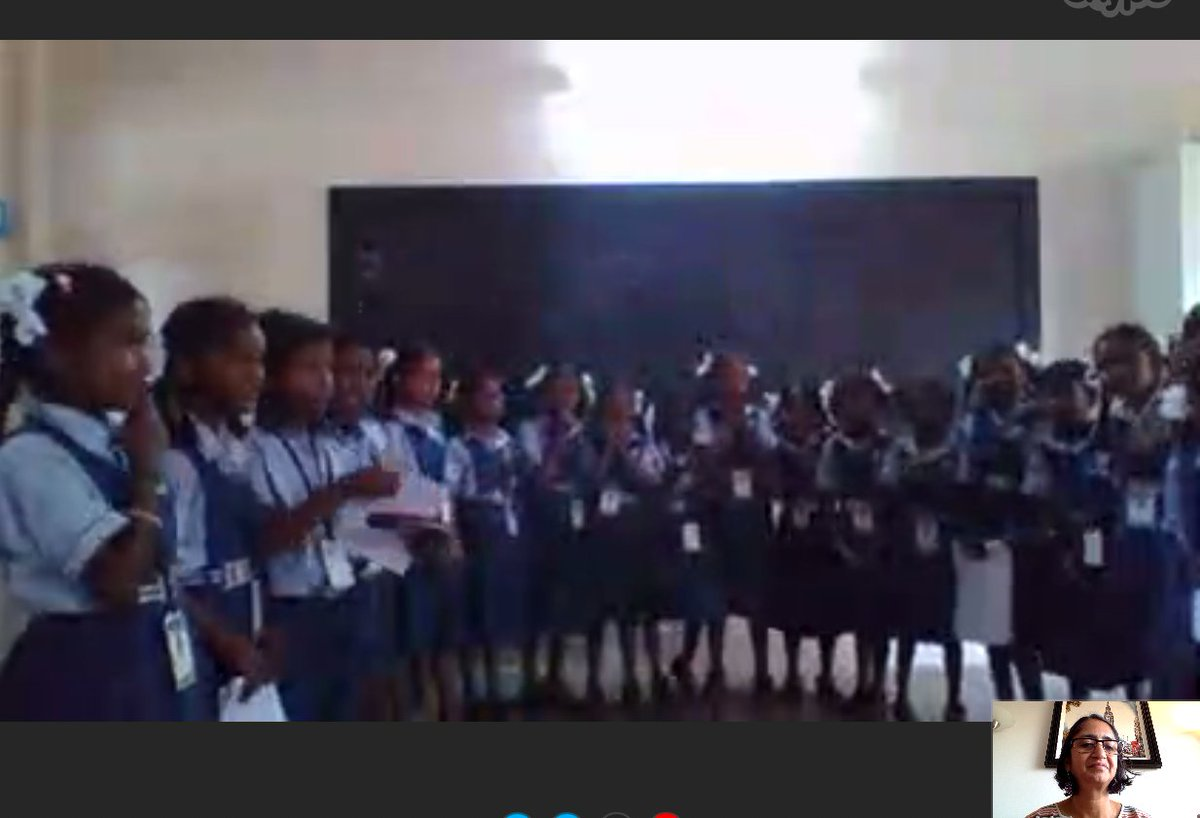 Thanks to @SkypeClassroom I visited this class in South India and what a treat it was.