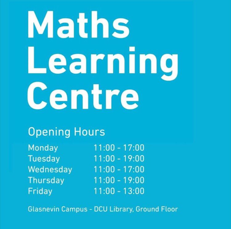 Just a reminder of our opening hours each week guys. We're here til 7 this evening #maths #nofilter @DublinCityUni @DCUSU @DCULIB<br>http://pic.twitter.com/IWQBWQ2Rtt